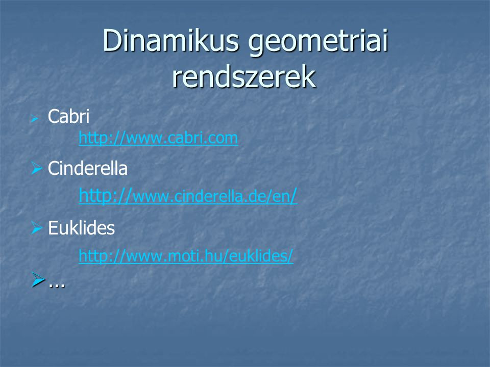 Dinamikus geometriai rendszerek