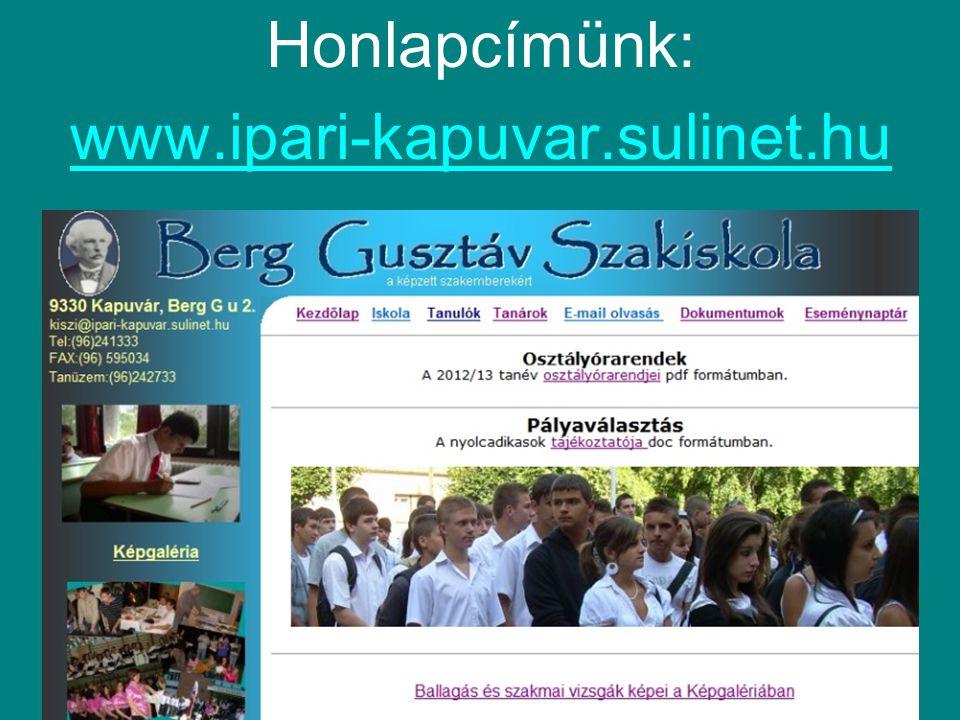 Honlapcímünk: www.ipari-kapuvar.sulinet.hu