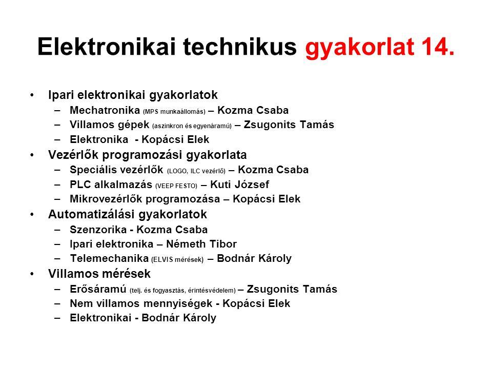Elektronikai technikus gyakorlat 14.