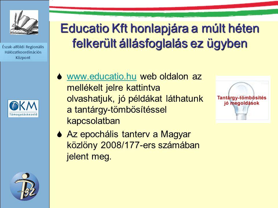 Educatio Kft honlapjára a múlt héten felkerült állásfoglalás ez ügyben