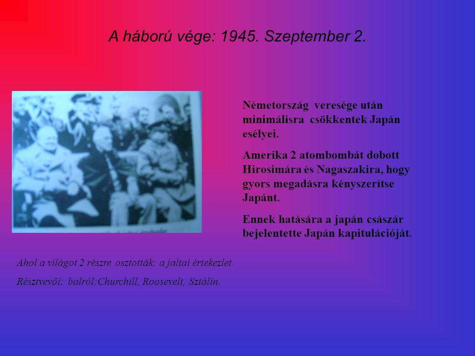 A háború vége: 1945. Szeptember 2.