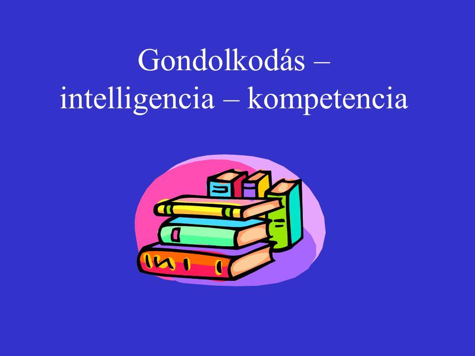 Gondolkodás – intelligencia – kompetencia