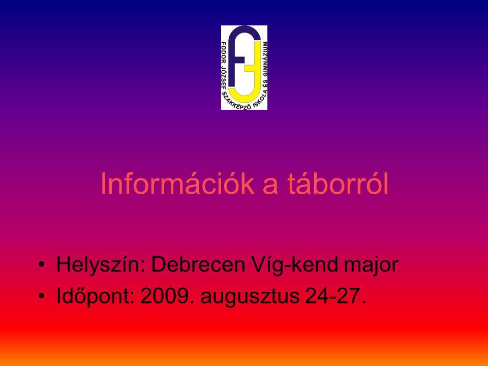 Információk a táborról