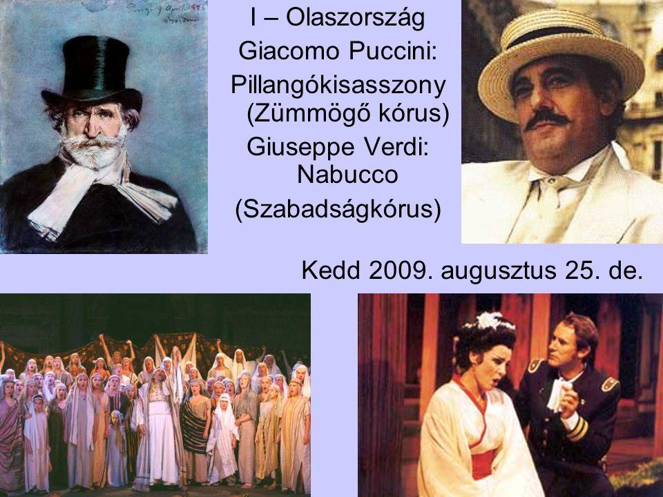 Pillangókisasszony (Zümmögő kórus) Giuseppe Verdi: Nabucco