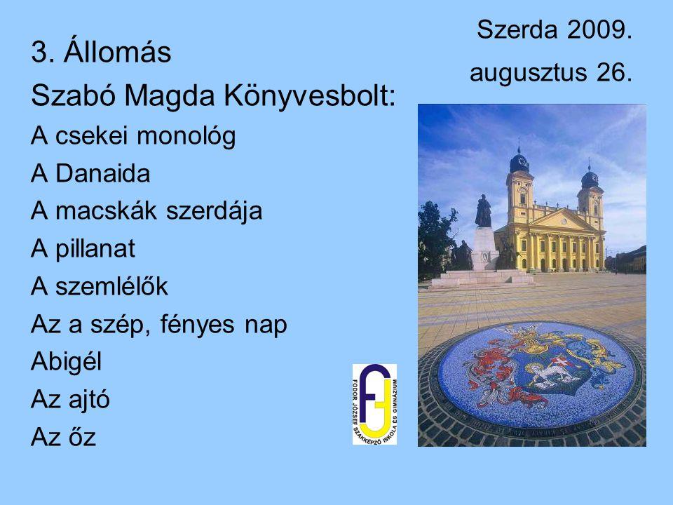 Szabó Magda Könyvesbolt: