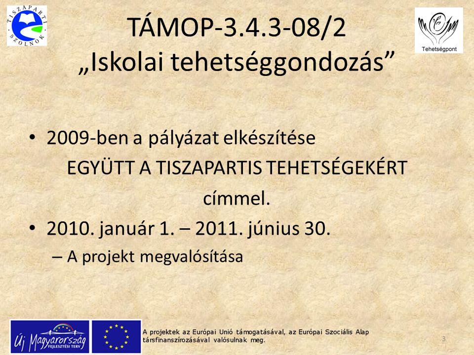 """TÁMOP-3.4.3-08/2 """"Iskolai tehetséggondozás"""