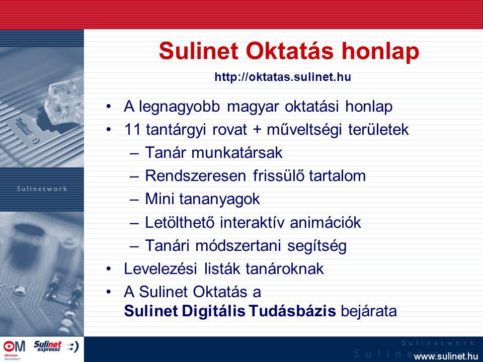Sulinet Oktatás honlap