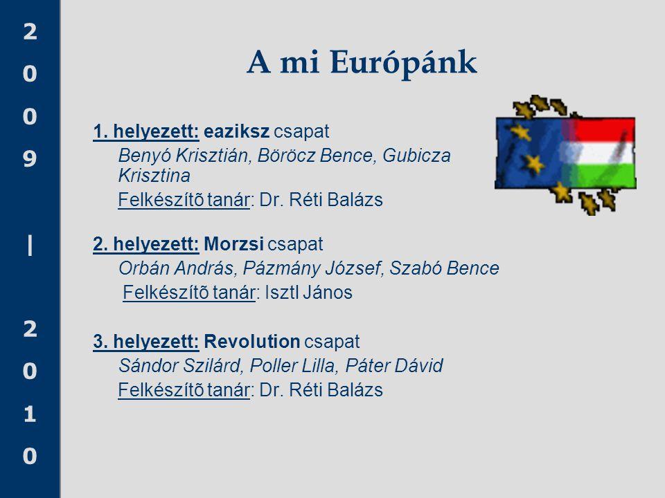 A mi Európánk 1. helyezett: eaziksz csapat