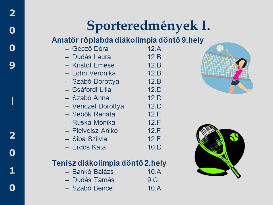 Sporteredmények I. Amatőr röplabda diákolimpia döntő 9.hely