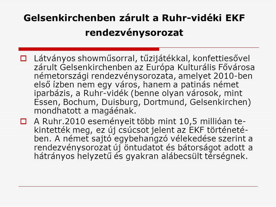 Gelsenkirchenben zárult a Ruhr-vidéki EKF rendezvénysorozat