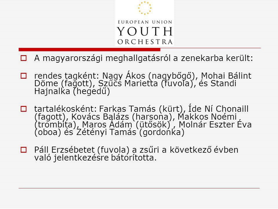 A magyarországi meghallgatásról a zenekarba került: