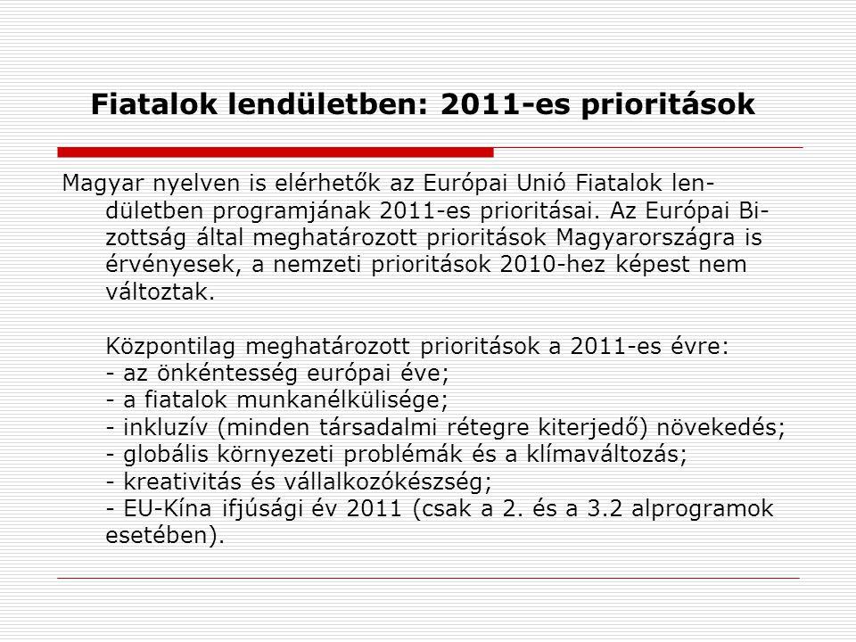 Fiatalok lendületben: 2011-es prioritások