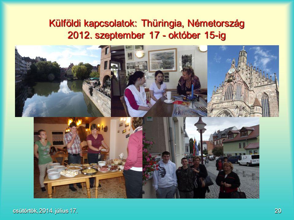 Külföldi kapcsolatok: Thüringia, Németország 2012