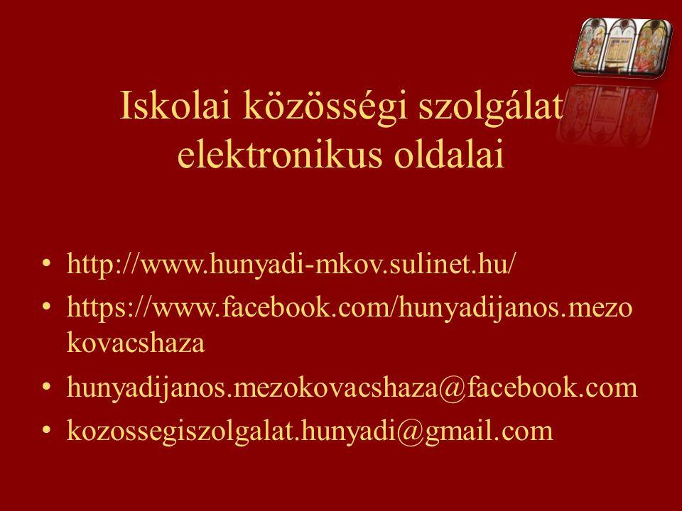 Iskolai közösségi szolgálat elektronikus oldalai