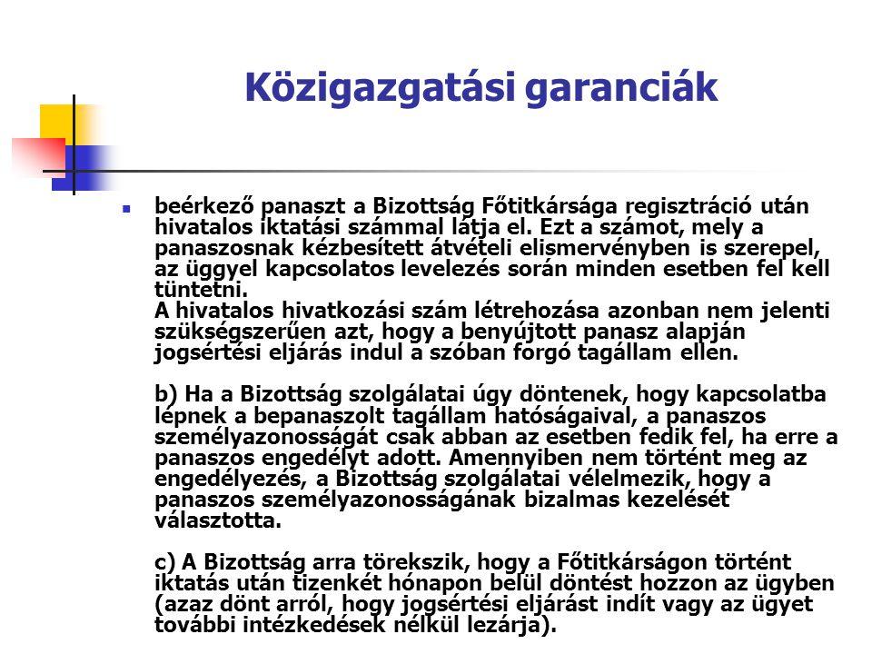 Közigazgatási garanciák