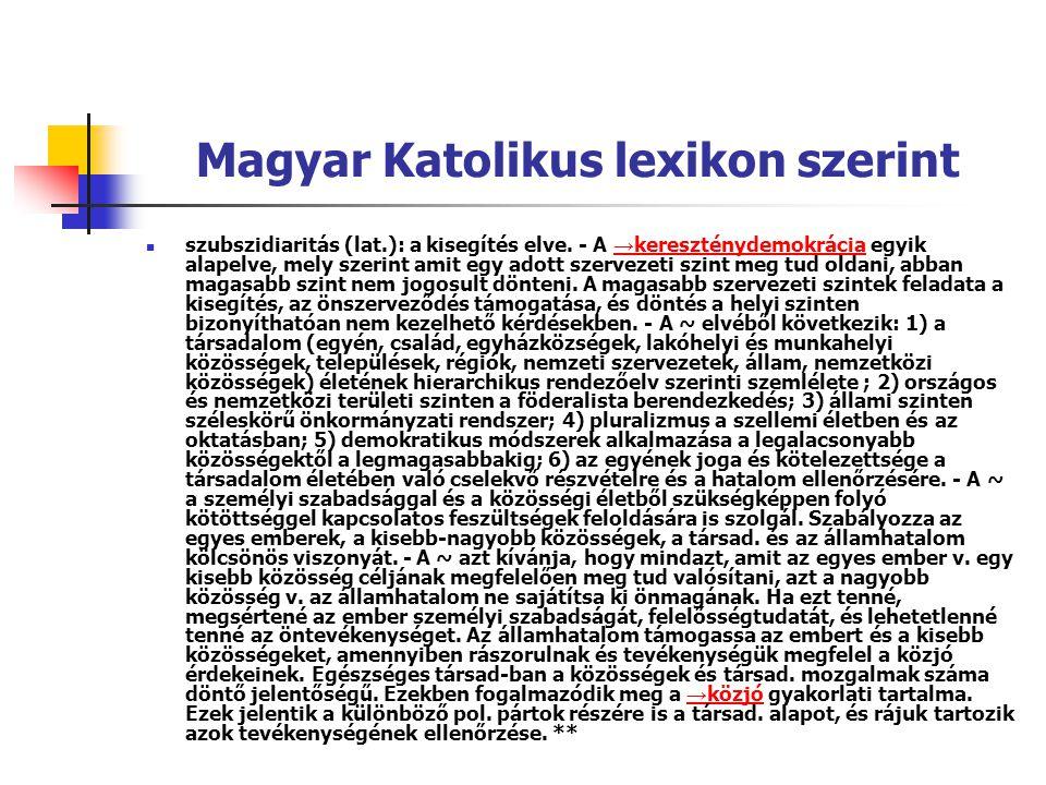 Magyar Katolikus lexikon szerint
