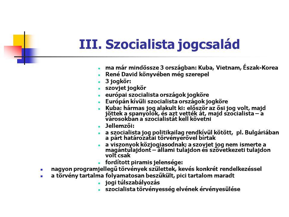 III. Szocialista jogcsalád