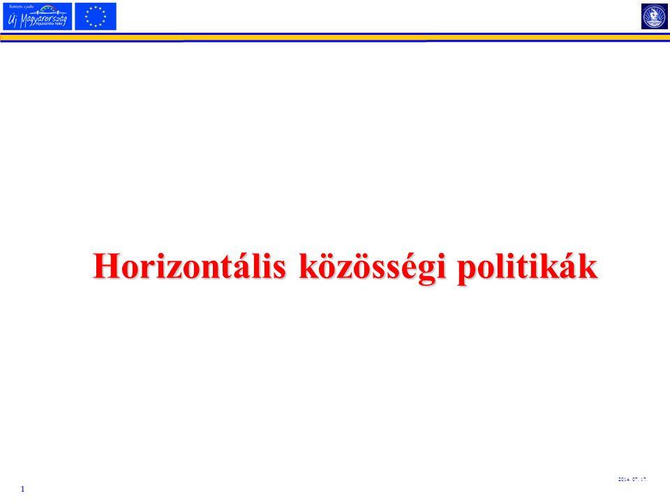 Horizontális közösségi politikák