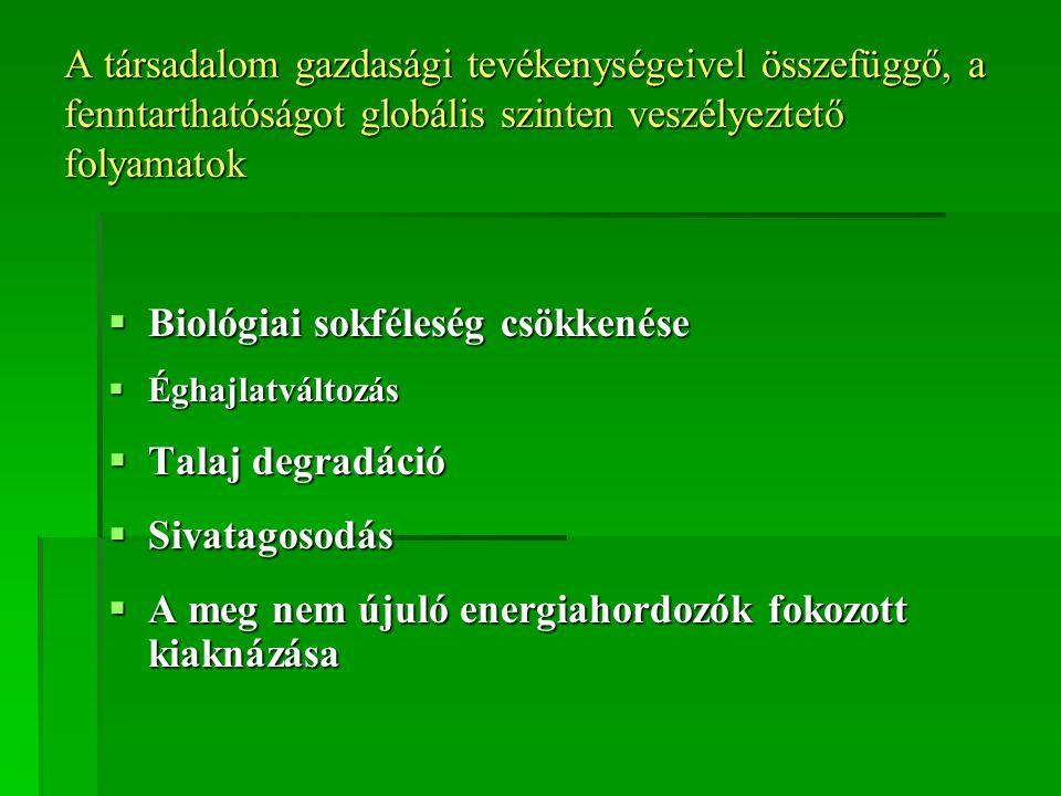 Biológiai sokféleség csökkenése