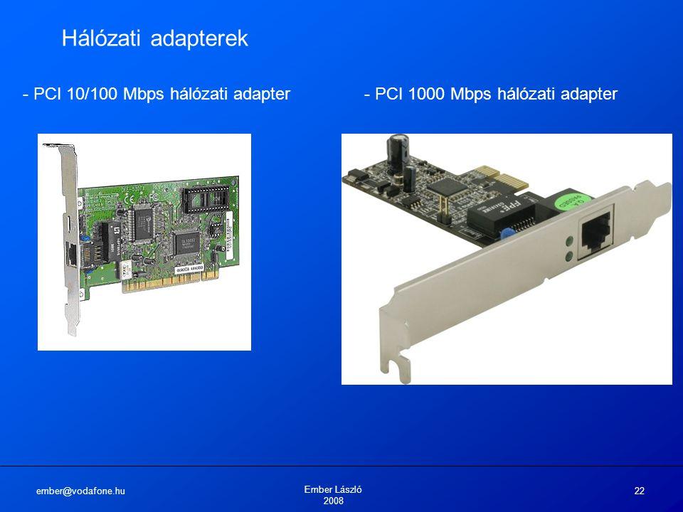 Hálózati adapterek - PCI 10/100 Mbps hálózati adapter - PCI 1000 Mbps hálózati adapter. ember@vodafone.hu.