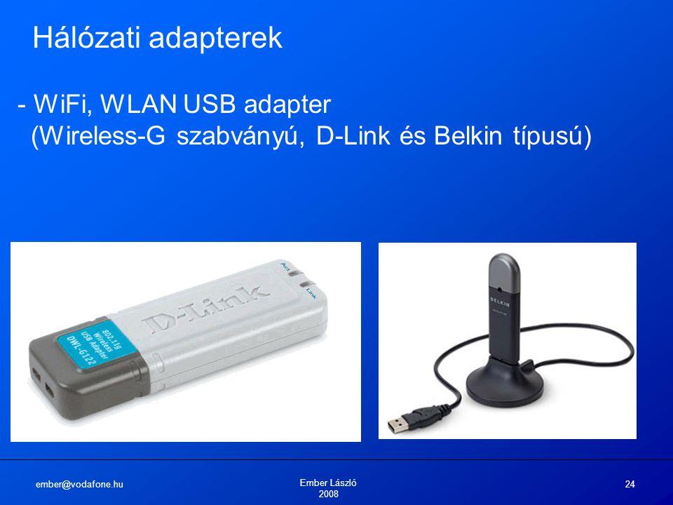 Hálózati adapterek - WiFi, WLAN USB adapter (Wireless-G szabványú, D-Link és Belkin típusú) ember@vodafone.hu.
