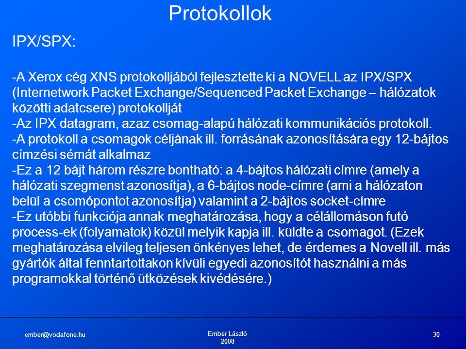 Protokollok IPX/SPX: