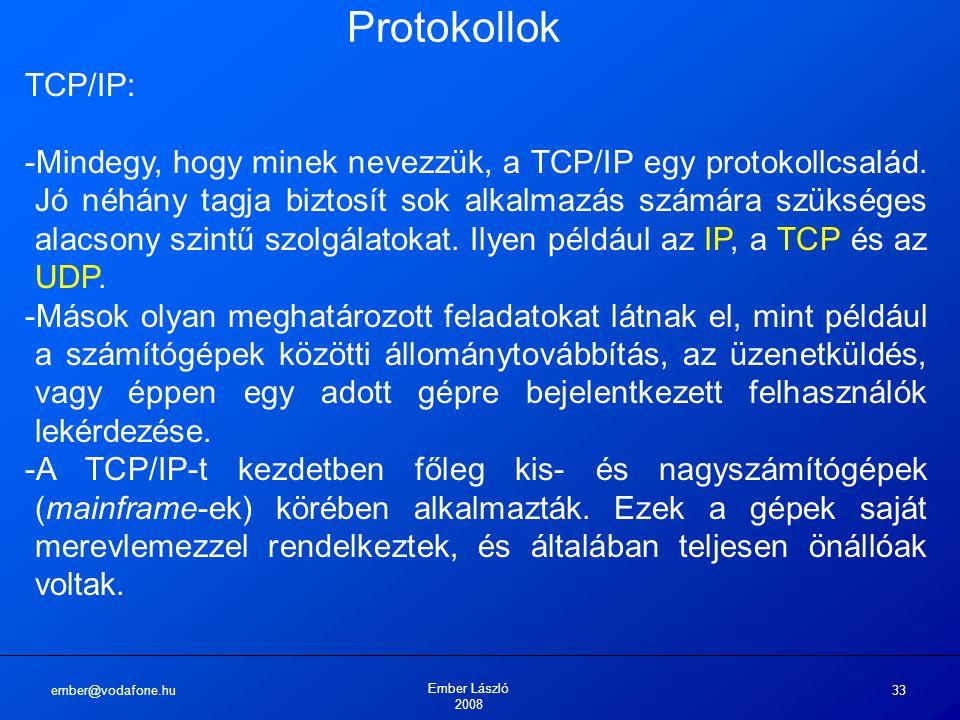 Protokollok TCP/IP: