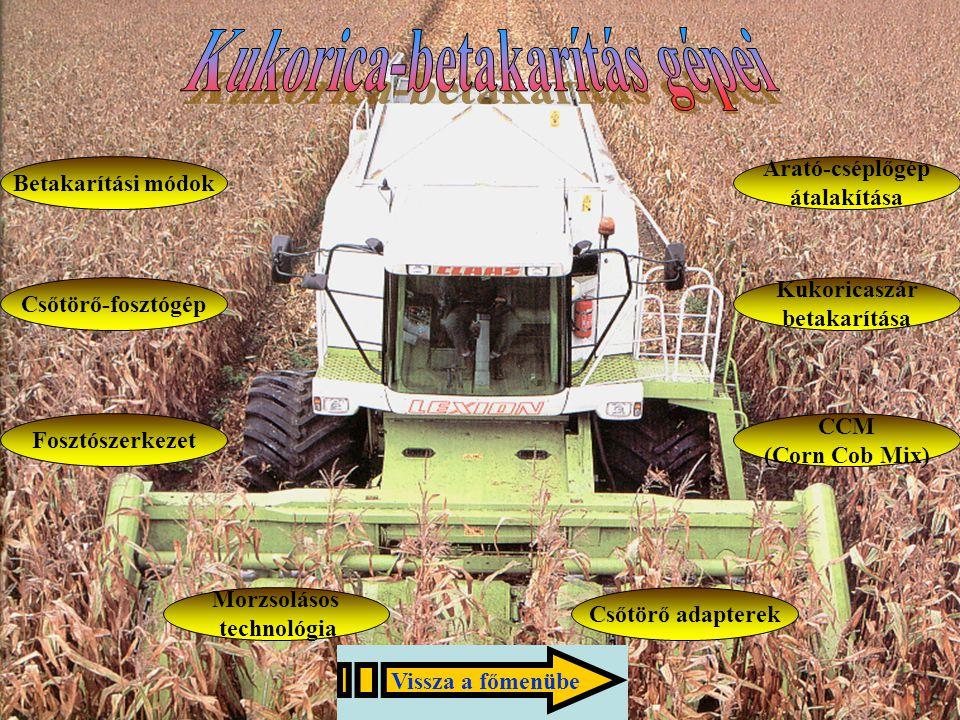 Kukorica-betakarítás gépei