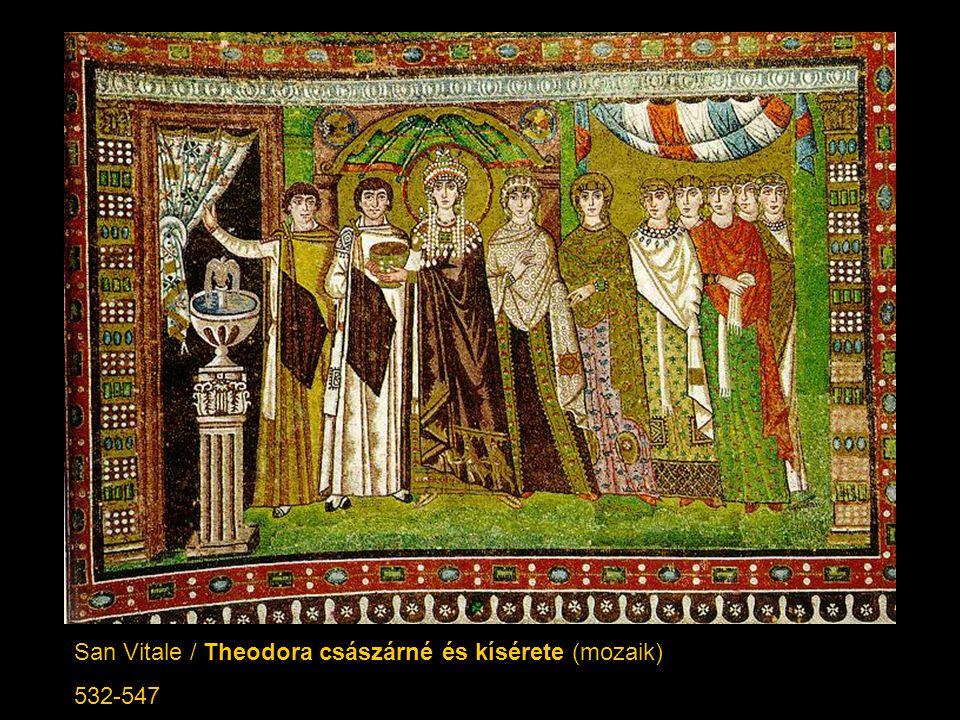 San Vitale / Theodora császárné és kísérete (mozaik)