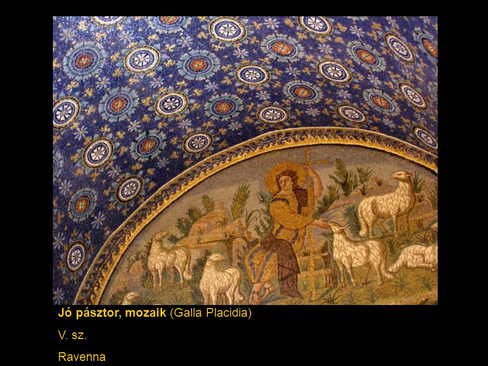 Jó pásztor, mozaik (Galla Placidia)