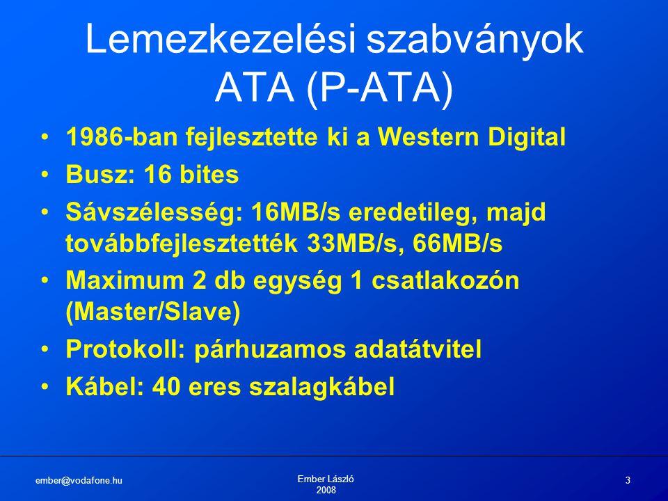 Lemezkezelési szabványok ATA (P-ATA)