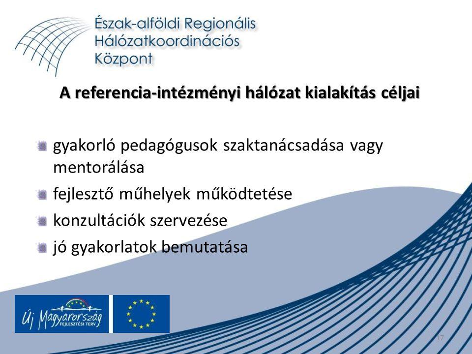 A referencia-intézményi hálózat kialakítás céljai