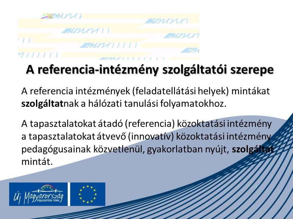 A referencia-intézmény szolgáltatói szerepe