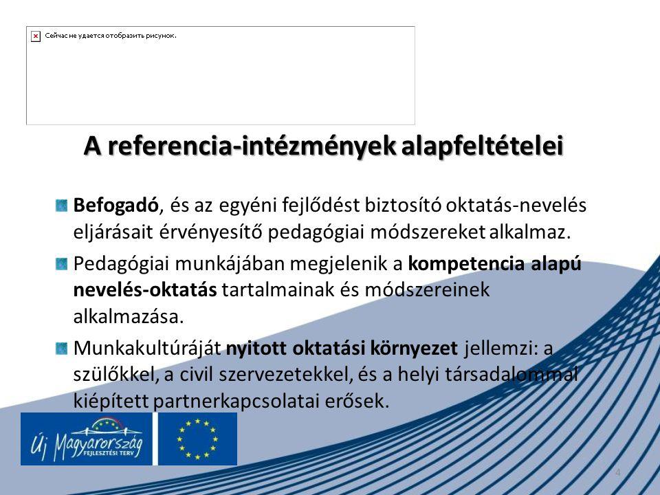 A referencia-intézmények alapfeltételei