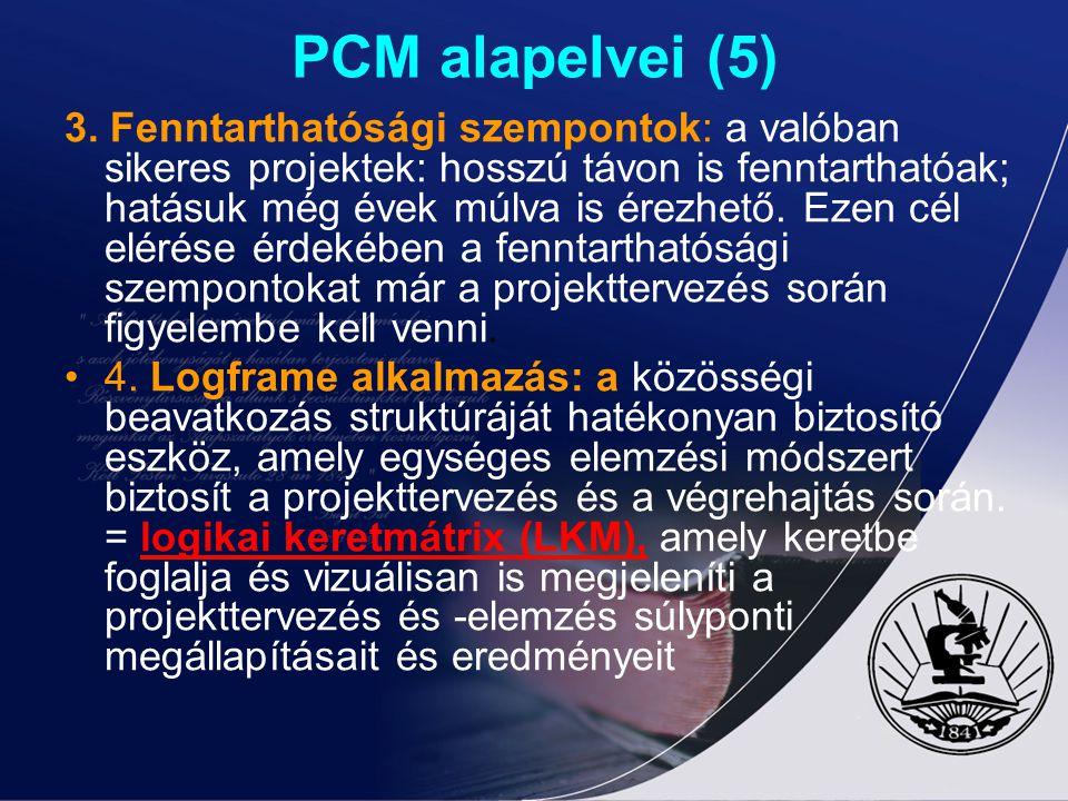 PCM alapelvei (5)
