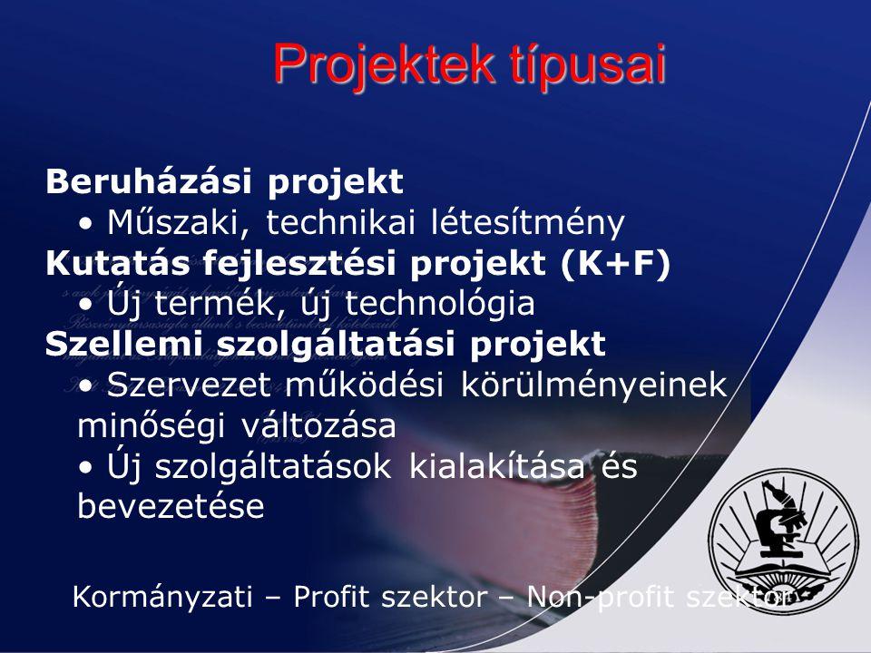 Kormányzati – Profit szektor – Non-profit szektor