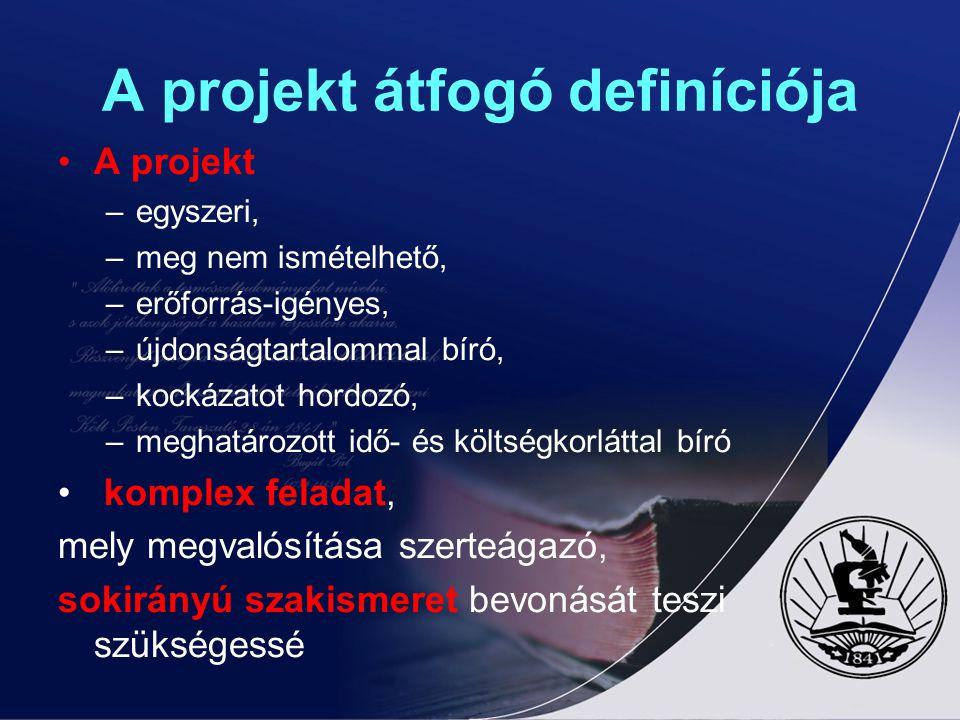 A projekt átfogó definíciója