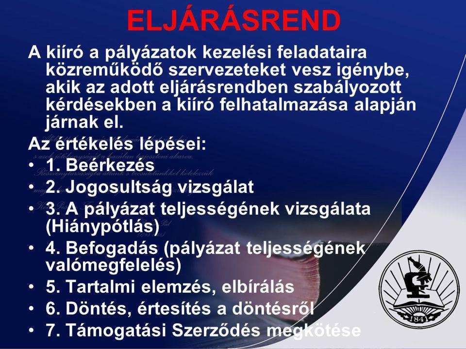 ELJÁRÁSREND