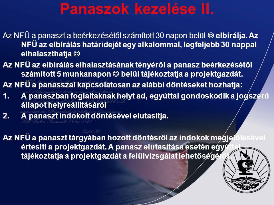 Panaszok kezelése II.