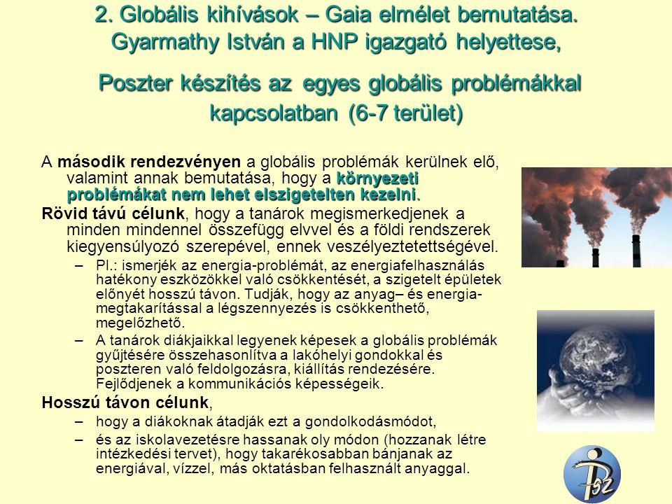 2. Globális kihívások – Gaia elmélet bemutatása