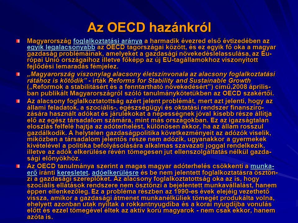 Az OECD hazánkról