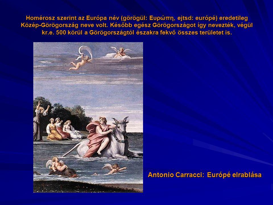 Antonio Carracci: Európé elrablása