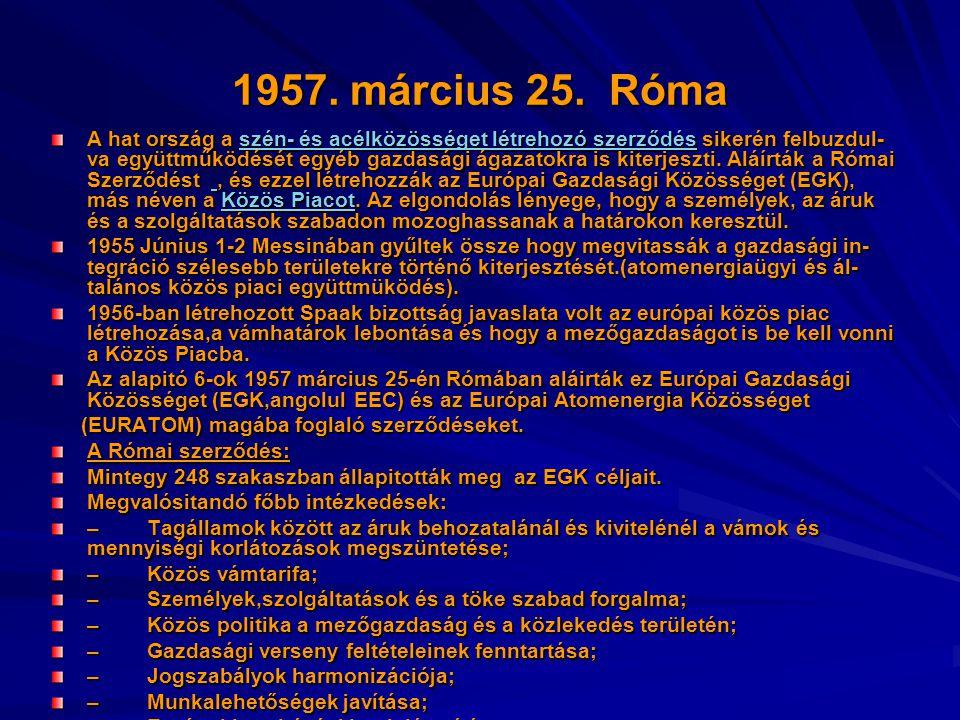1957. március 25. Róma