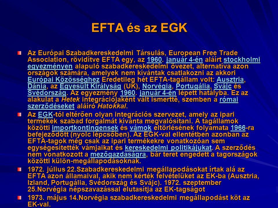 EFTA és az EGK