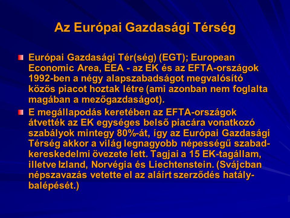 Az Európai Gazdasági Térség