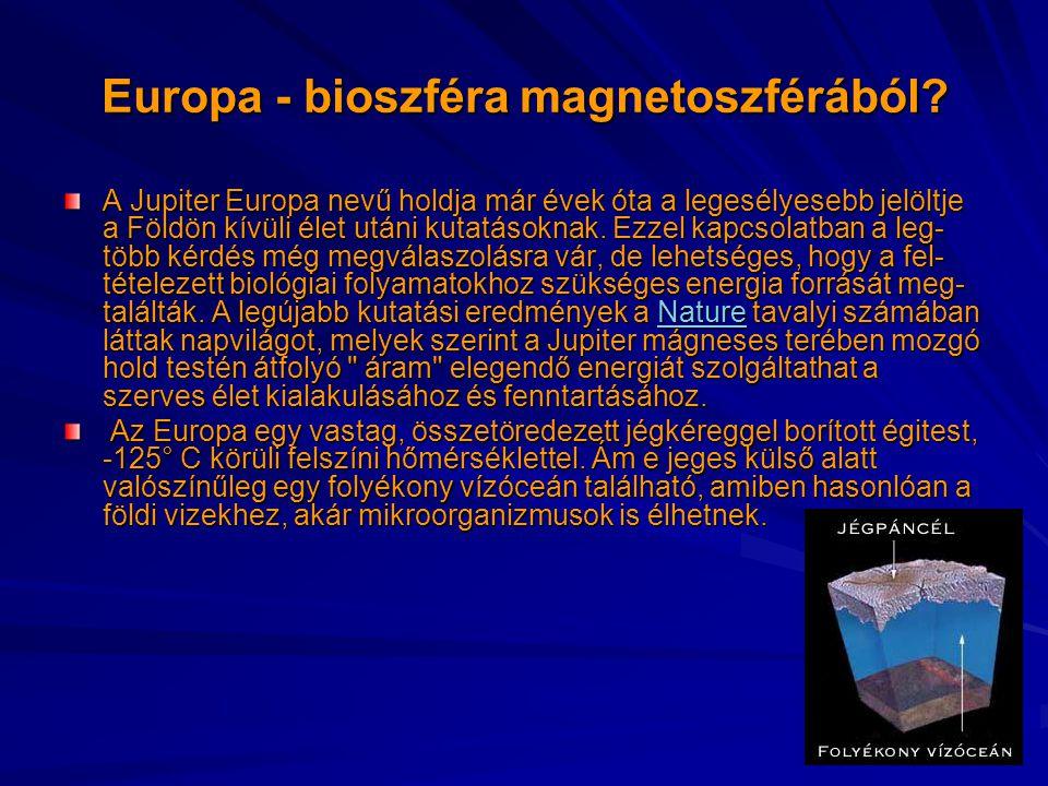 Europa - bioszféra magnetoszférából