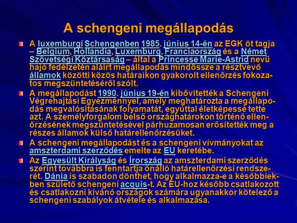 A schengeni megállapodás