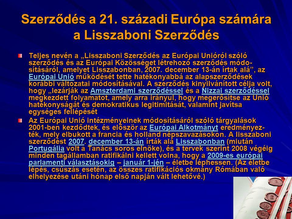 Szerződés a 21. századi Európa számára a Lisszaboni Szerződés