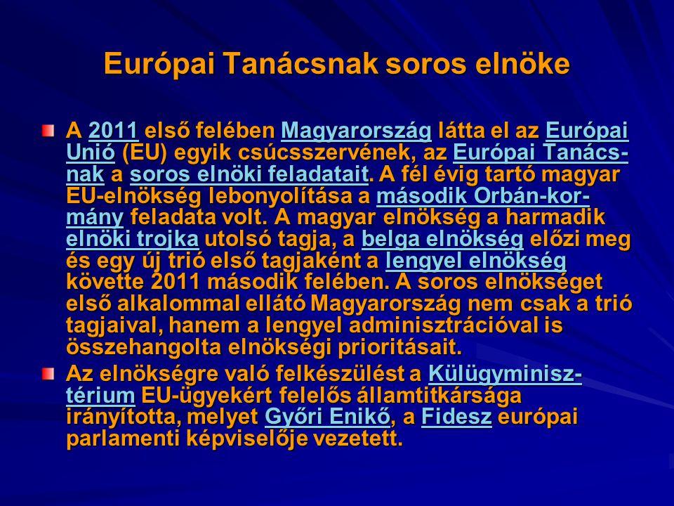 Európai Tanácsnak soros elnöke
