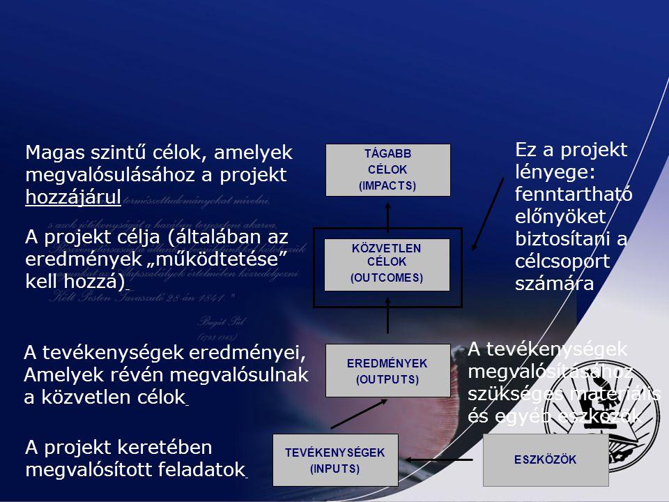 Magas szintű célok, amelyek megvalósulásához a projekt hozzájárul